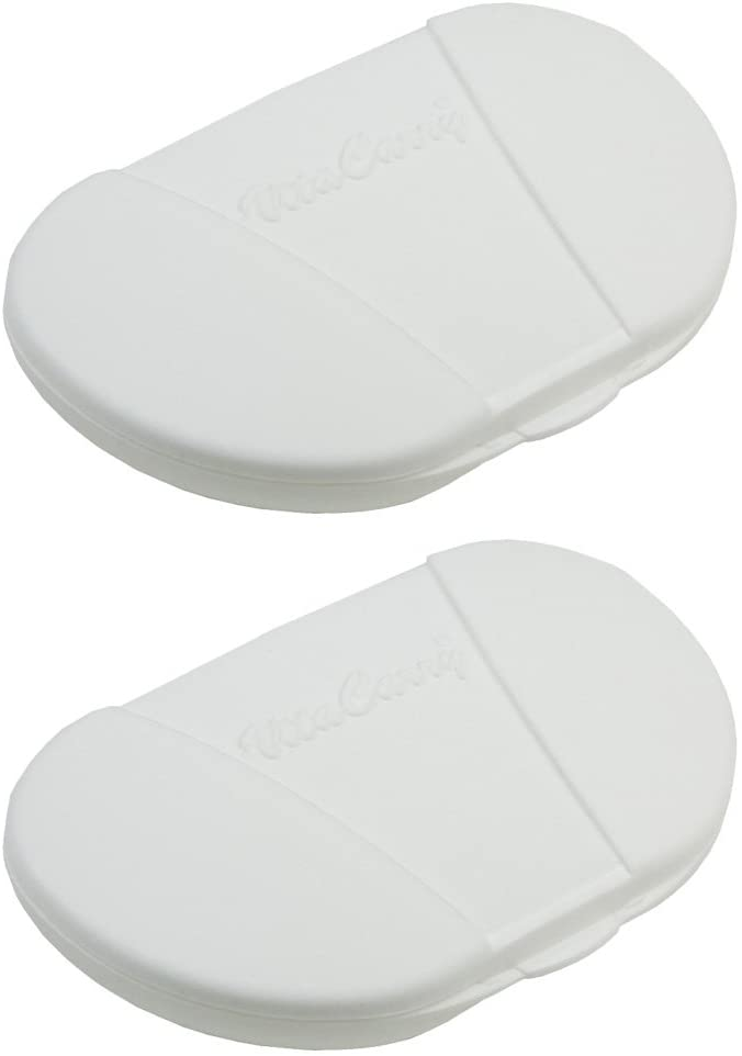 VitaCarry Small 4 Compartment Pocket Pill Box Holds up to 20 Aspirin Size Tablets - 3.0