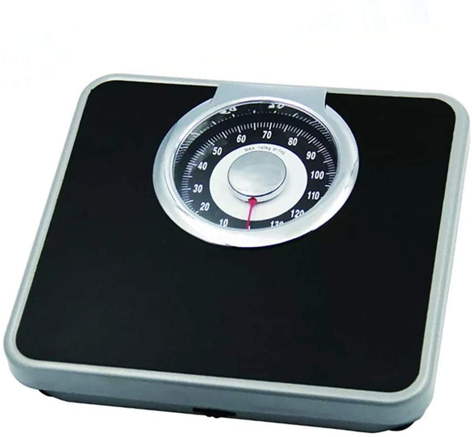 GWW Professional Analog Mechanical Dial Bathroom Scale, Easy to Read Analogue Dial, for Hotel Household (330 lbs/150kg), No Buttons/Batteries