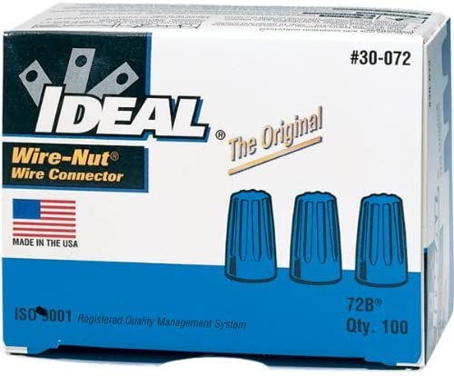 Ideal Industries 30-072 Wire Connector 22-14 AWG Blue Wire-Nut 72B