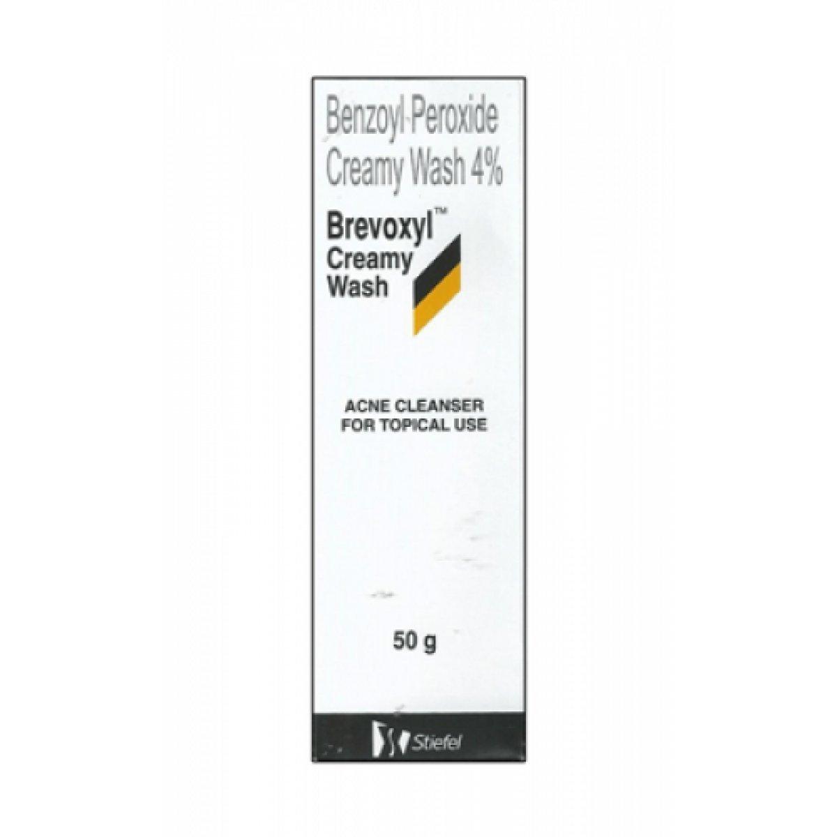 2 Pack Brevoxyl Benzoyl Peroxide 4% Creamy Acne Wash (50g)