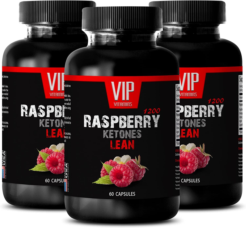 Weight Loss Raspberry Ketones - Raspberry Ketones Lean 1200MG - Raspberry Weight Loss Pills - 3 Bottles (180 Capsules)