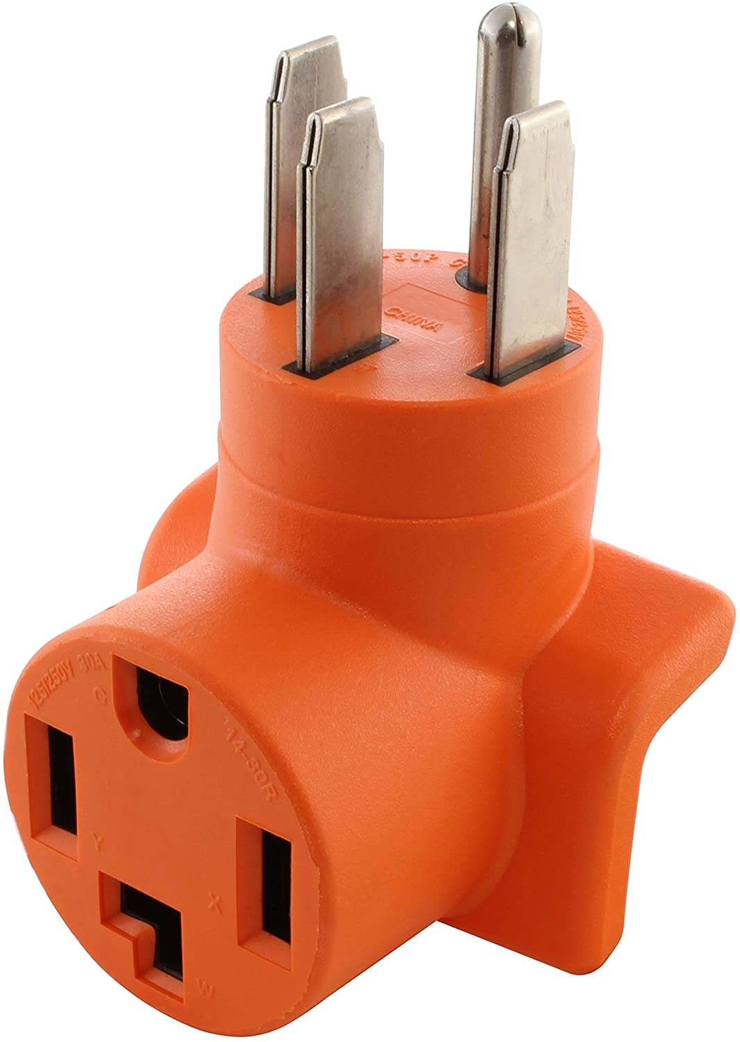 AC WORKS [AD14501430] 14-50P 50Amp 4-Prong Plug to 14-30R 4-Prong Dryer Outlet