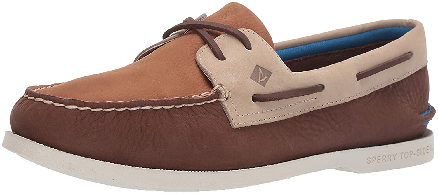 Sperry A/O 2-Eye Plush Washable Brown 10.5