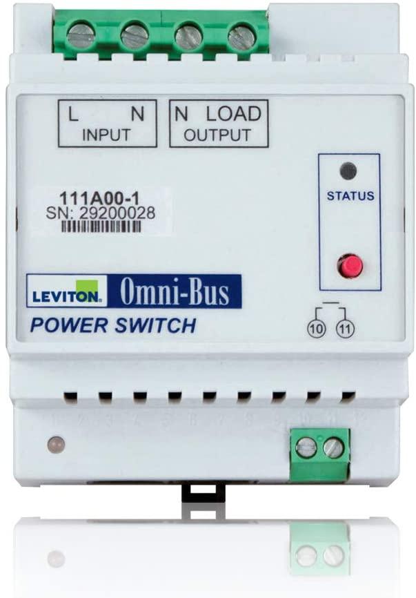 Leviton 111A00-1 Omni-Bus Power Switch DIN Rail Module