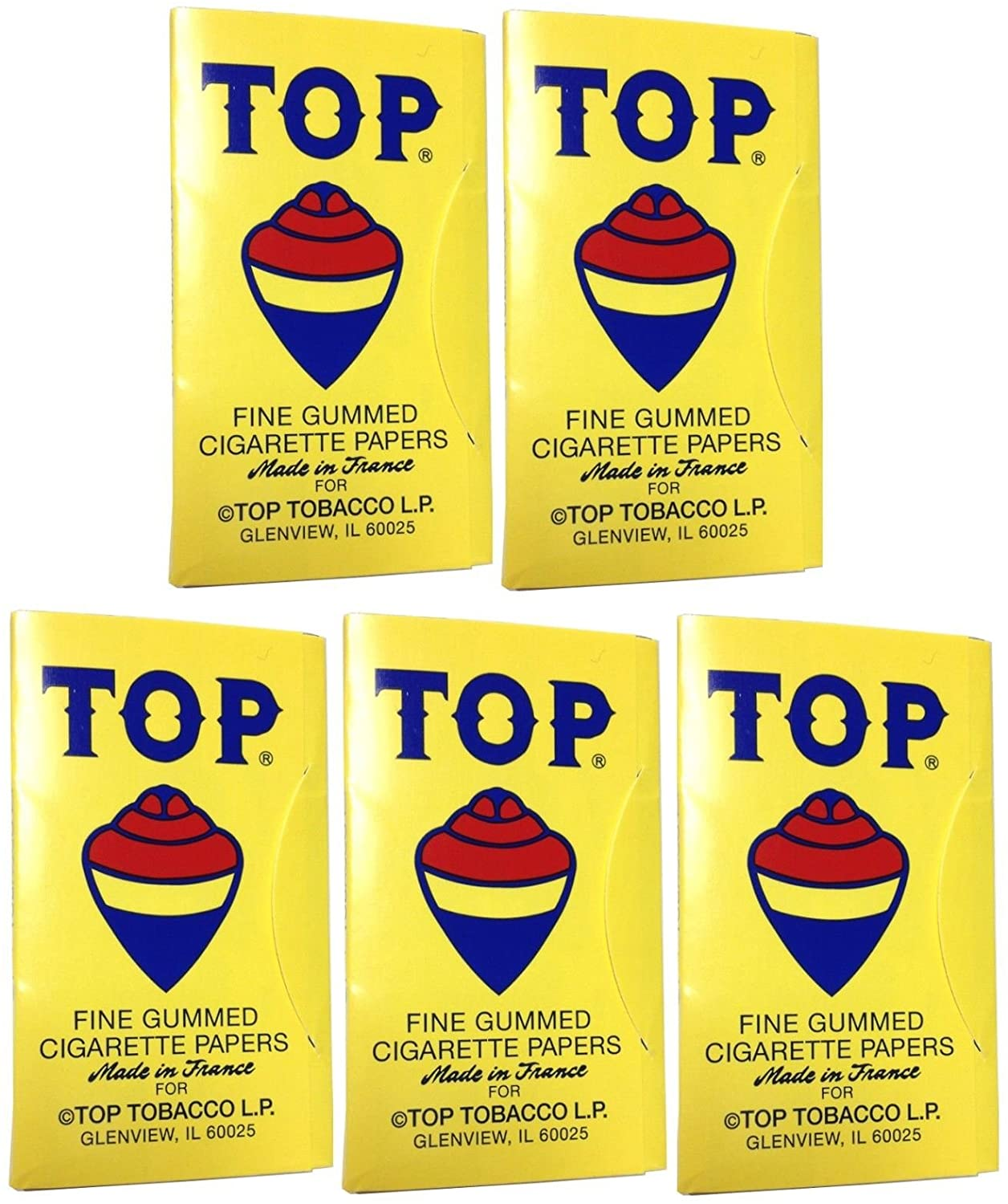 5 Books Top Rolling Papers Single Wide with Free BB Sticker