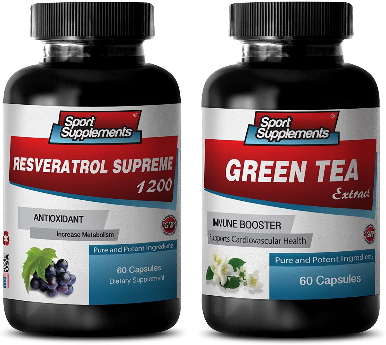 antioxidant Tea - RESVERATROL - Green Tea - Combo - Green Tea Cleanser - (2 Bottles Combo)