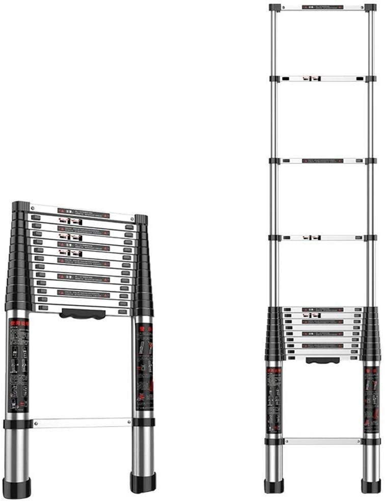 LADDERS Telescopic Tall Ladder A- Telescoping Extension Multi Purpose Ladders, Extendable with Spring Load Locking Mechanism - Suggests 330 Lbs (Size : 4.7M/15.42Ft)