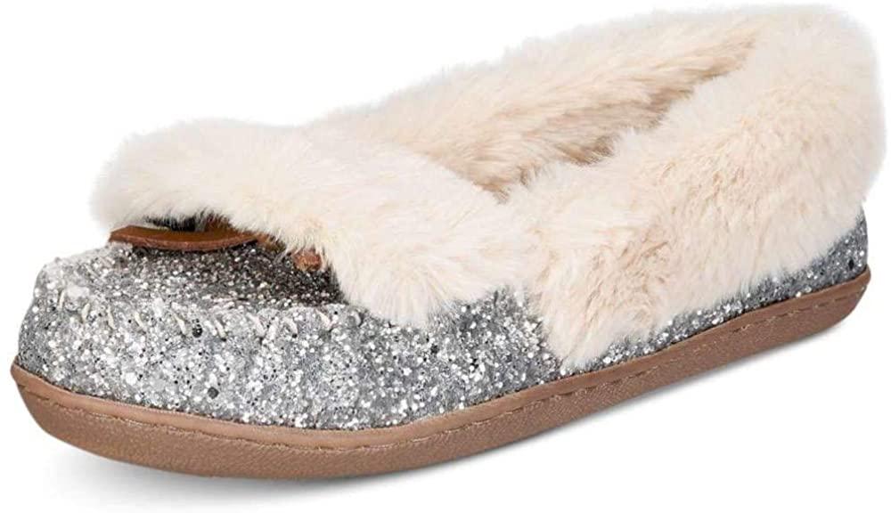 INC International Concepts Womens Yasmina Faux Fur Closed Toe Slip On Slippers