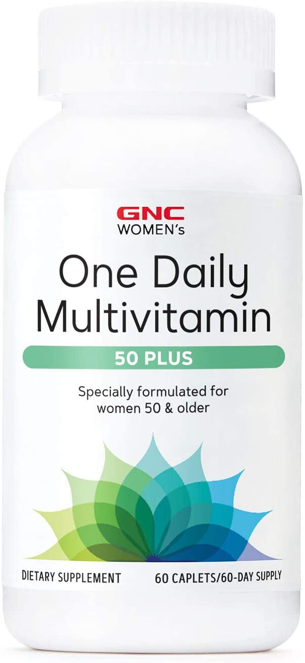GNC Women's One Daily Multivitamin 50 Plus, 60 Caplets, Supports Women's Health Over 50
