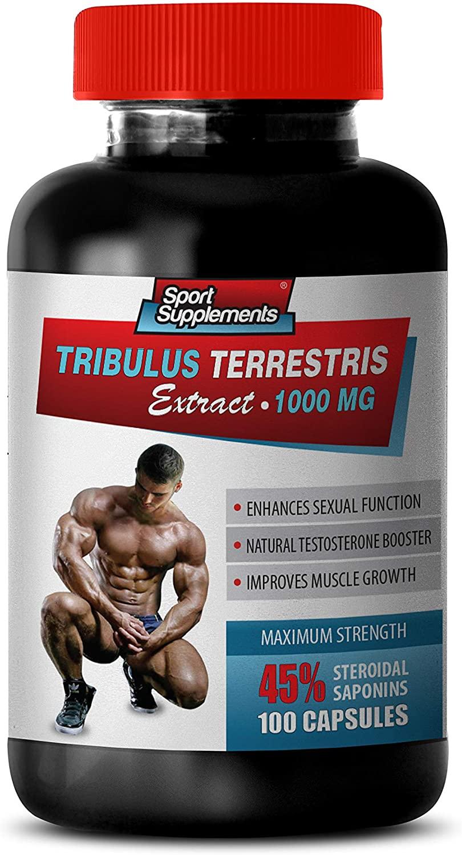 Muscle Builder - TRIBULUS TERRESTRIS Extract 1000MG - 45% STEROIDAL SAPONINS - Maximum Strength - tribulus Bulgarian - 1 Bottle 100 Capsules