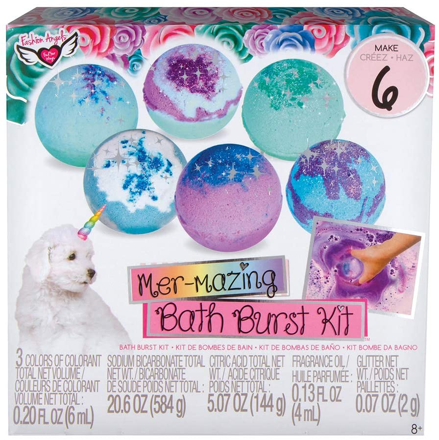 Fashion Angels Making Waves Bath Burst Kit (12183) Bath Bomb Making Kit, Multicolor, Ages 8 and Up