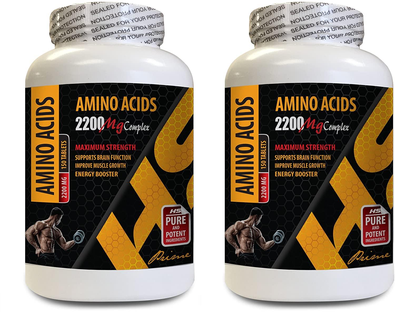 Muscle Building Supplements Best Muscle Building Supplements - Amino ACIDS 2200 mg Complex - Maximum Strength - l-arginine Essential Amino Acid - 2 Bottles 300 Tablets