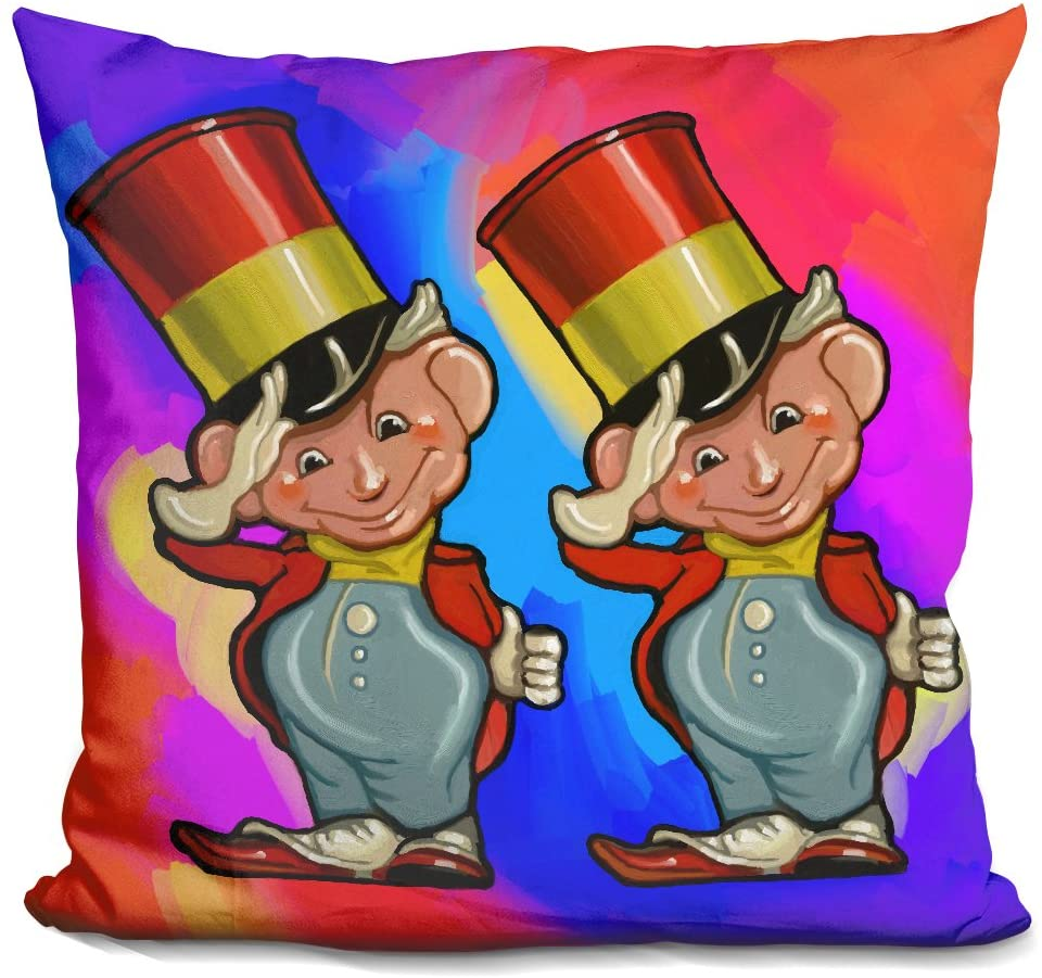 LiLiPi Pop-Art-Elf-Majors Decorative Accent Throw Pillow