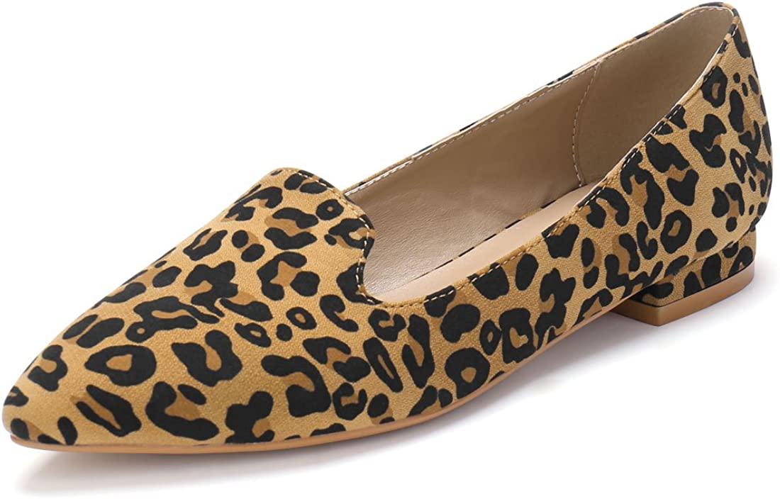 Allegra K Women's Slip On Pointed Toe Loafer Flats