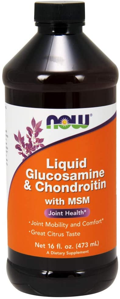 NOW Supplements, Glucosamine & Chondroitin with MSM, Liquid, Joint Health, Mobility and Comfort*, 16-Ounce