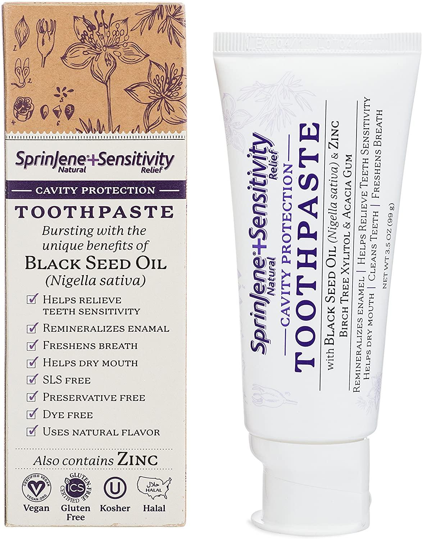SprinJene Natural ™ Sensitivity Cavity Protection Toothpaste