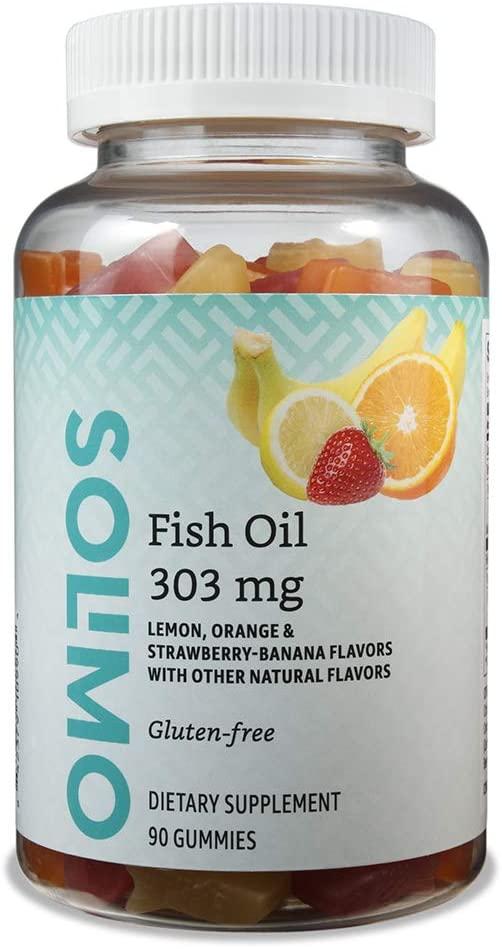 DHgate Brand - Solimo Fish Oil 303 mg, 90 Gummies (2 Gummies per Serving), EPA and DHA Omega-3 fatty acids