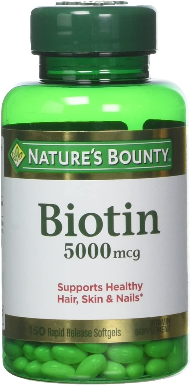 Nature's Bounty Biotin 5000 mcg, 60 Quick Dissolve Tablets(Pack of 2)