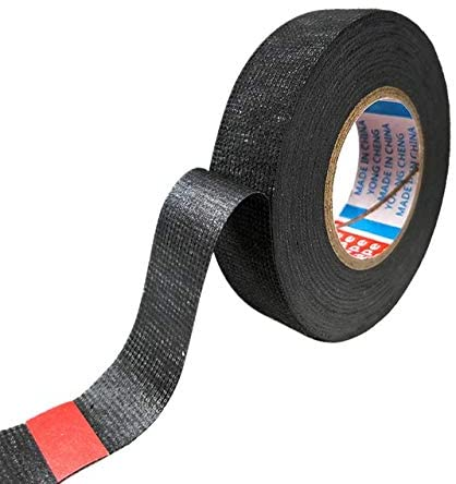 Wire Harness Tape 15m Electrical Insulation Adhesive Tape 9/15/19/25/32 Width Heat-resistant Looms Wiring Harness Tape PET Bundle Flame Retardant Insulation Protection