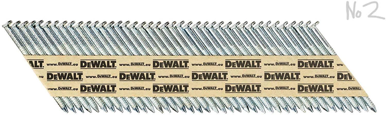 DEWALT DNPT28R63G12Z Stripes Ring Shank Nail Dnpt Electroplated, 63 mm, 2.2 K, 2.8 x 63mm (2200)