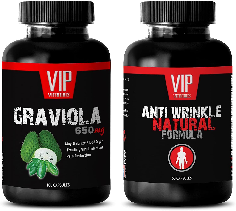 antiaging Retinol - GRAVIOLA - Anti Wrinkle - graviola Pills - (2 Bottles Combo)