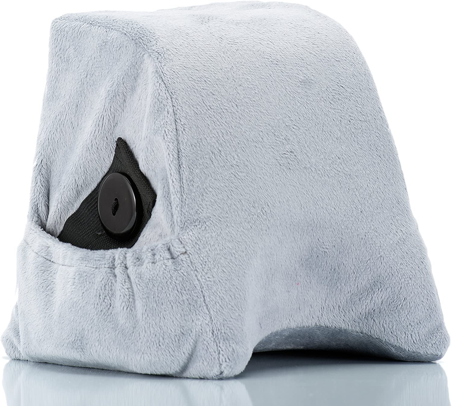 Travel Pillow by Travel Heads | Comfortable Memory Foam Neck Pillow, Best Shoulder Wedge Pillow for Airplanes & Cars (Grey)