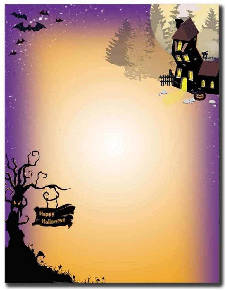 Haunted House Letterhead Sheets (100), Multicolored