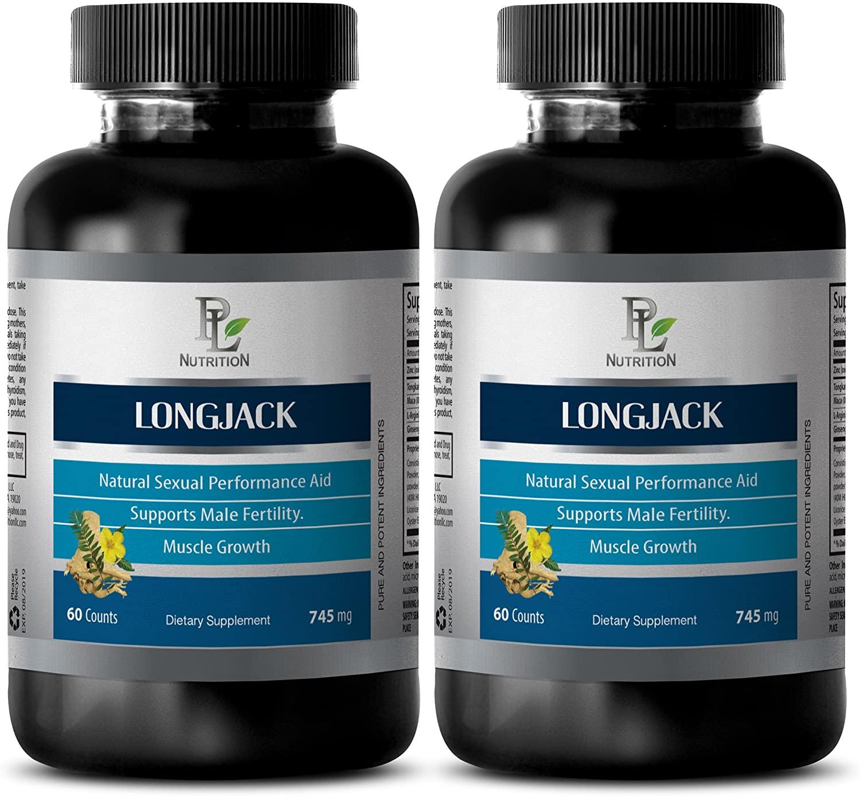 Sexual Enhancement Pills - LONGJACK 745MG - Premium Advanced Formula - Tongkat ali Root - 2 Bottle (120 Capsules)