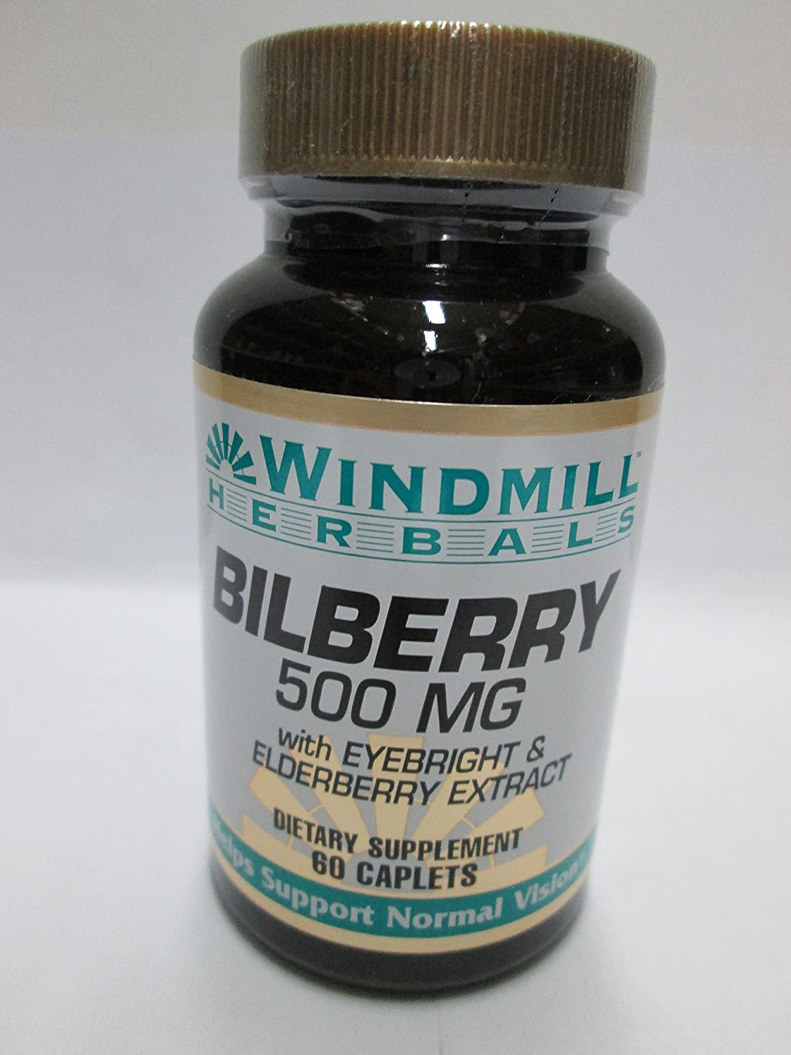 Windmill Bilberry 500 Mg Capsules Supports Normal Vision - 60 Ea