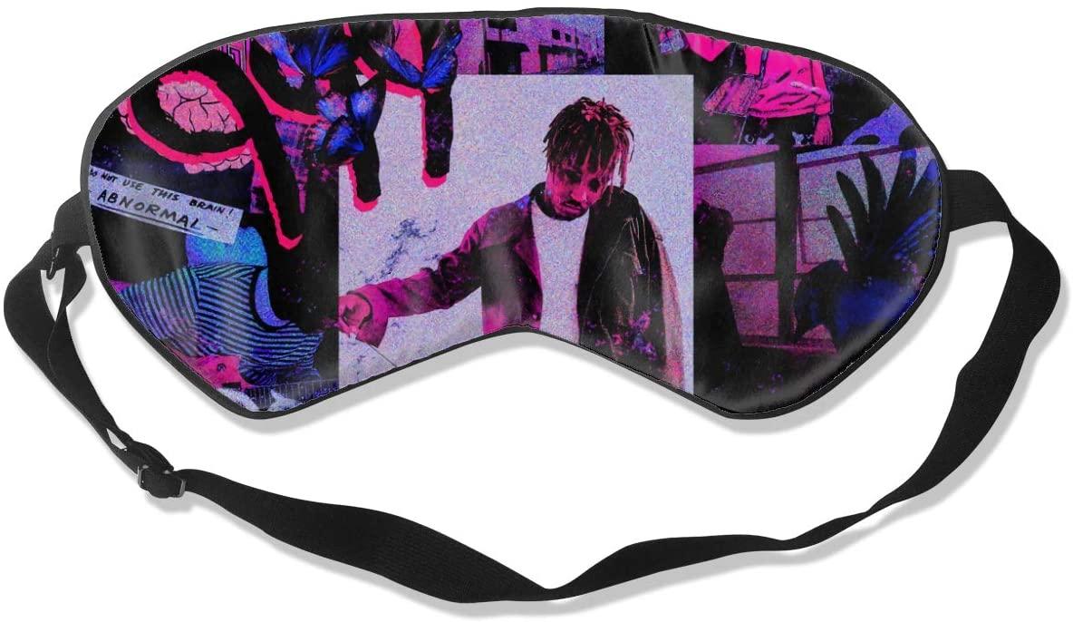 WushXiao Luanelson Juice Wrld Fashion Personalized Sleep Eye Mask Soft Comfortable with Adjustable Head Strap Light Blocking Eye Cover