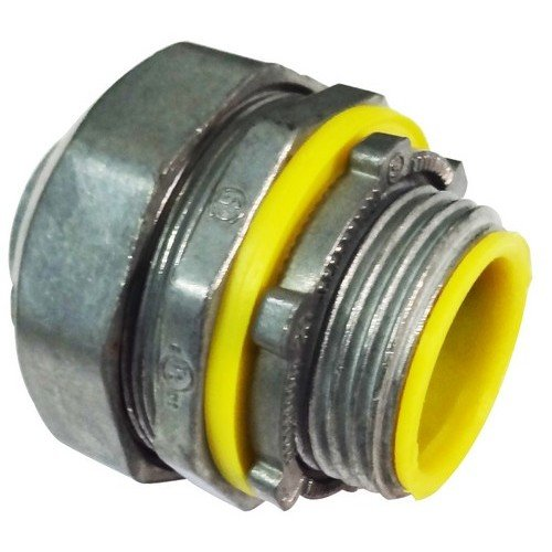 Morris 15254 Insulated Throat Liquid Tight Connector, Straight, Zinc Die Cast, 1