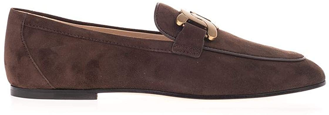 Tod's Luxury Fashion Woman XXW79A0DD00D8WS611 Brown Suede Loafers | Fall Winter 20