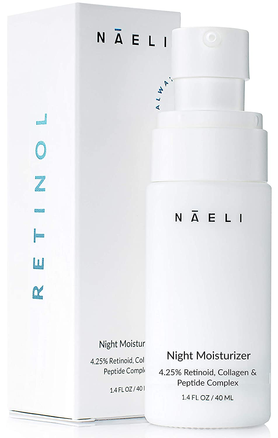 Retinol Cream For Face - 4.25% Retinol Night Moisturizer with Collagen & Peptides - Anti Aging Complex For Wrinkles, Fine Lines & Skin Tone. Boosts Natural Collagen Production - Skincare For Women & Men, 1.4 oz.