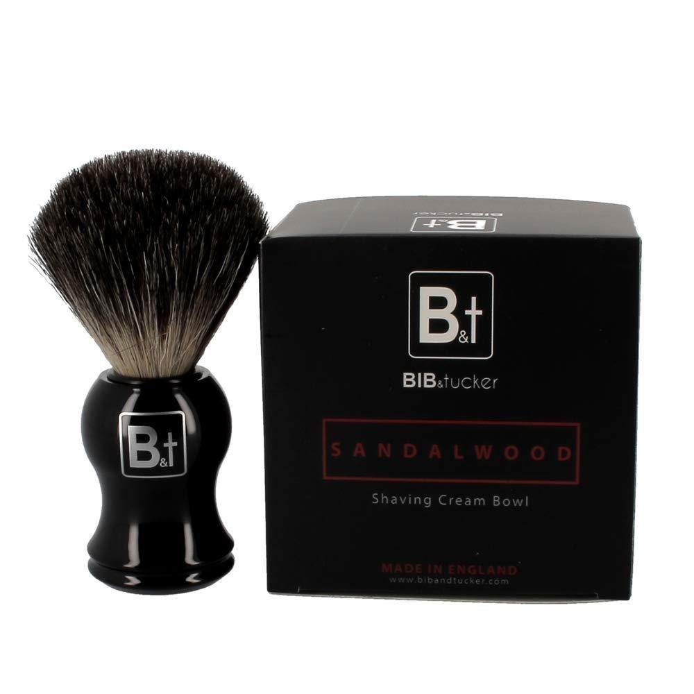 Sandalwood Shaving Cream & Pure Badger Brush – Bib & Tucker, Men Shave Care