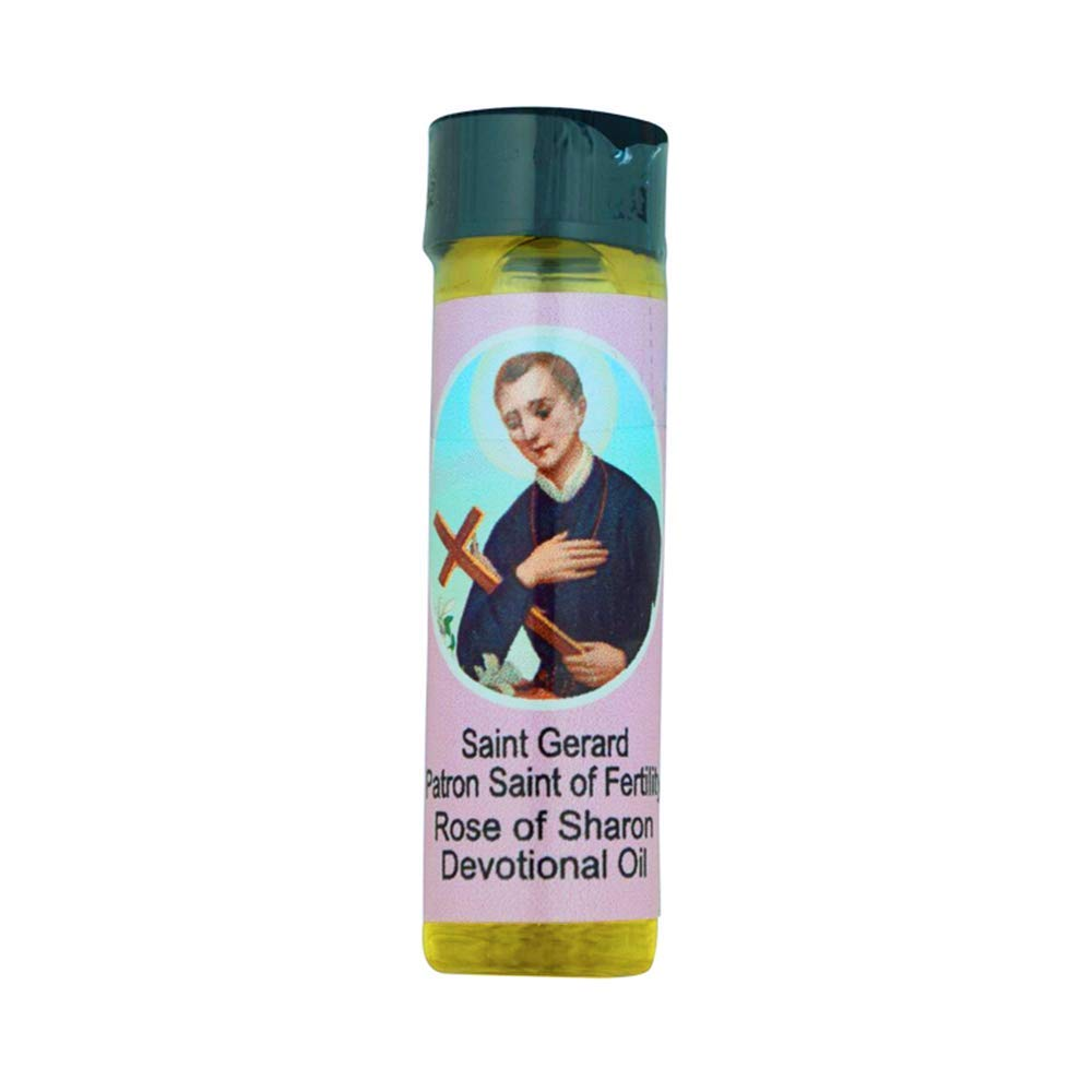 0.25oz Devotional Oils | 3 Different Saints and Holy Figures | Bless the Sick or In Need | Comes with Prayer Card | Christian Home Goods (St. Gerard)