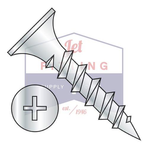 8 x 3 Phillips Recess Bugle Head Coarse Thread Drywall Screw Particle Board Zinc (Quantity: 2000 pcs)