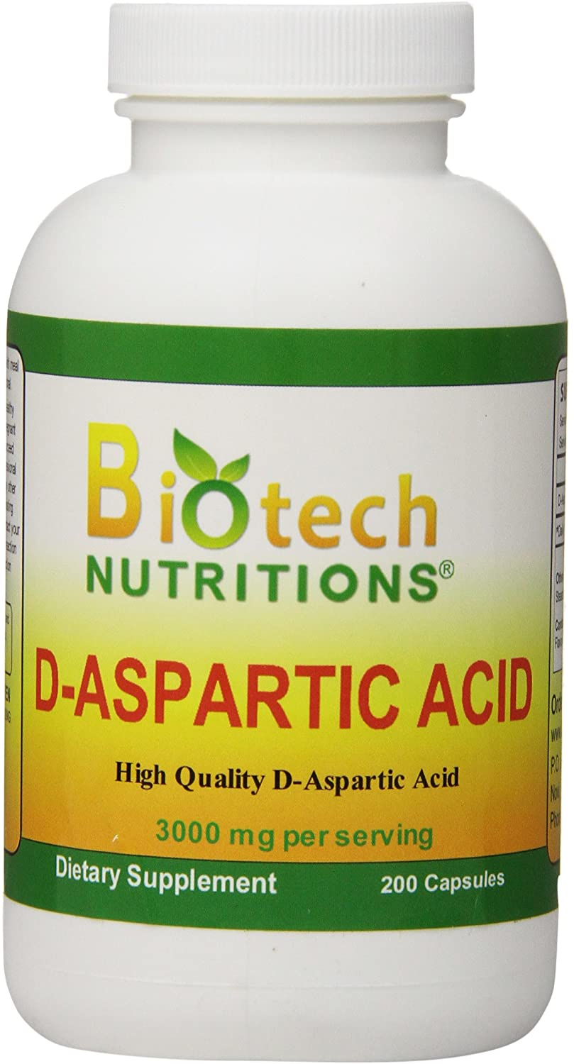 Biotech Nutritions D-Aspartic Acid Dietary Supplement, 3000  mg., 200 Count