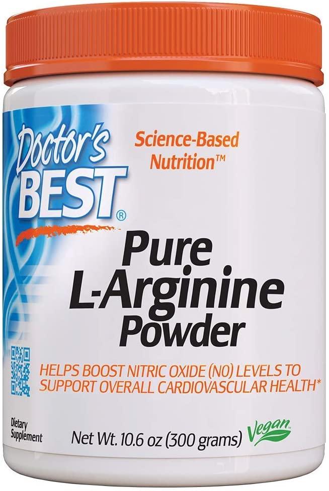 Doctor's Best L-arginine Powder, Non-GMO, Vegan, Gluten Free, Soy Free, Helps Promote Muscle Growth, 300g
