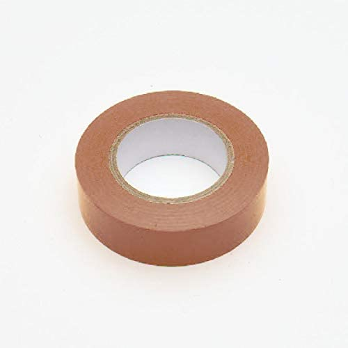 Merriway BH07519 Brown PVC Electrical Insulation Tape 19mm x 5M (3/4 inch x 195 inch/ 16.25ft), 2 Piece