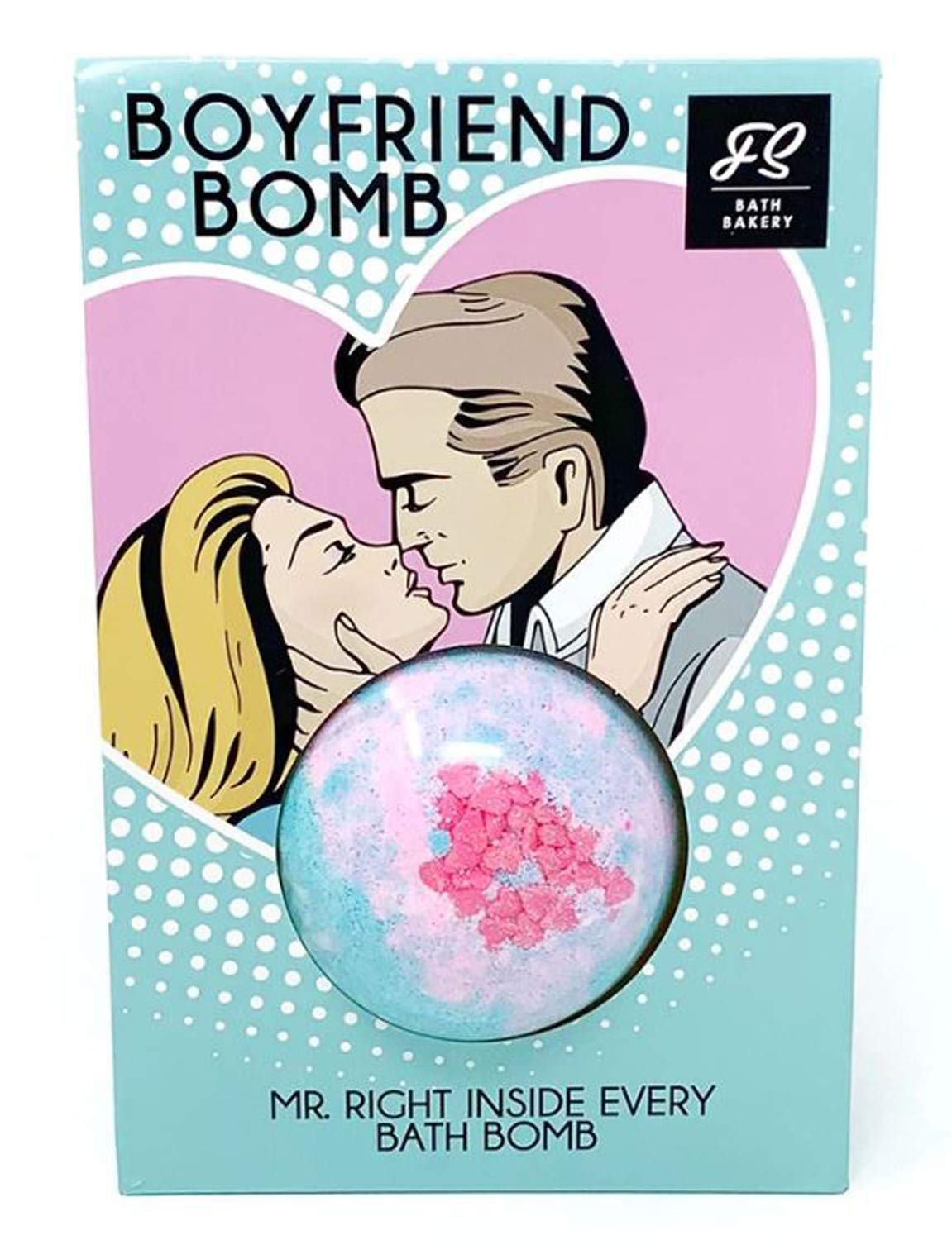 Feeling Smitten Boyfriend Bath Bombs 6 Oz! Sweet Scented Bath Bombs! Natural & Sulfate Free! Surprise Bath Bombs With Mr. Right Inside! Help Fizz Your Cares Away! Choose Your Bath Bombs! (Boyfriend)