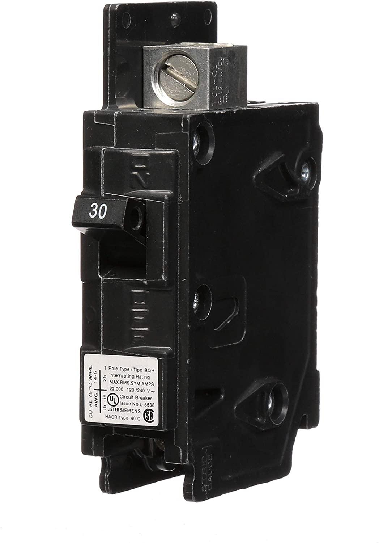 Siemens BQ1B030H 30-Amp Single Pole 120-Volt 22KAIC Lug In/Lug Out Breaker