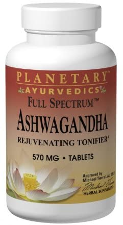 Planetary Herbals Ashwagandha Full Spectrum by Planetary Ayurvedics 570mg, Rejuvenating Tonifier, 120 Tablets
