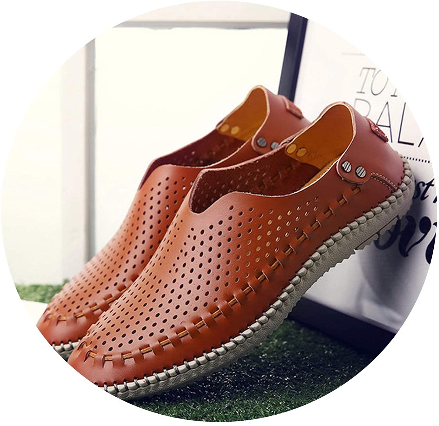 New Summer Casual Shoes Men Loafers Genuine Leather Moccasins Men Driving Shoes Flats