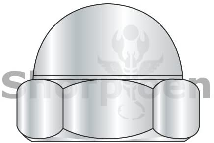 3/8-16 Two Piece Low Crown Cap Nut Nickel Plated - Box Quantity 1000 by Shorpioen BC-37NC