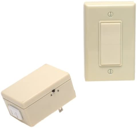 Leviton Ivory Anywhere Outlet w/Remote Switch 6697-I