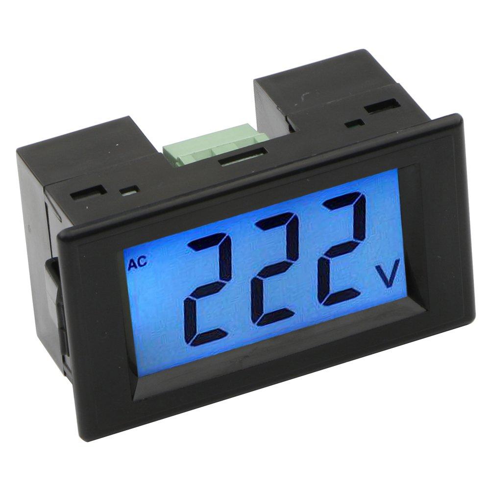 JIUWU Black LCD AC 80-500V Digital Panel Volt Meter Voltmeter Guage 220V 380V Voltage Measurememt 2-Wire