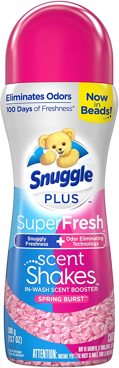 Snuggle Scent Shakes in-Wash Scent Booster Beads, SuperFresh Spring Burst, 13.7 Ounces