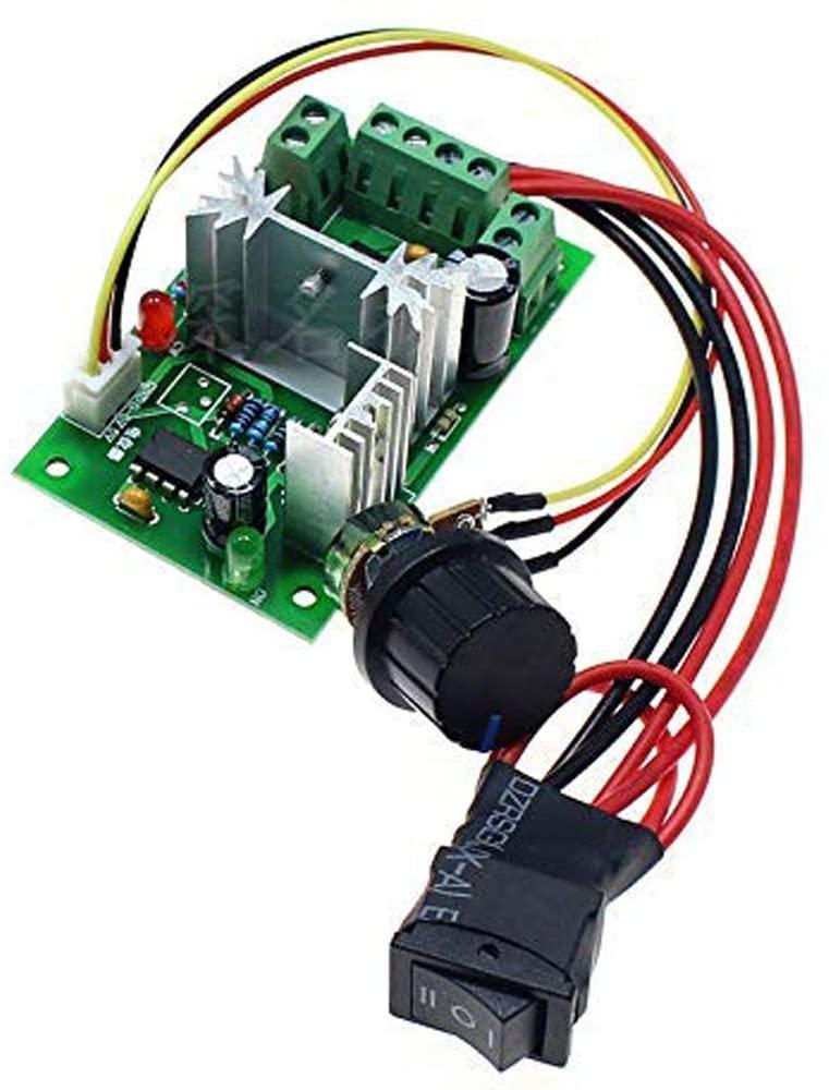 Lheng 6V 12V 24V 6A DC Motor Speed Governor Adjustable Reversible Switch PWM 200W Variable Speed Control reversing - CCM6N
