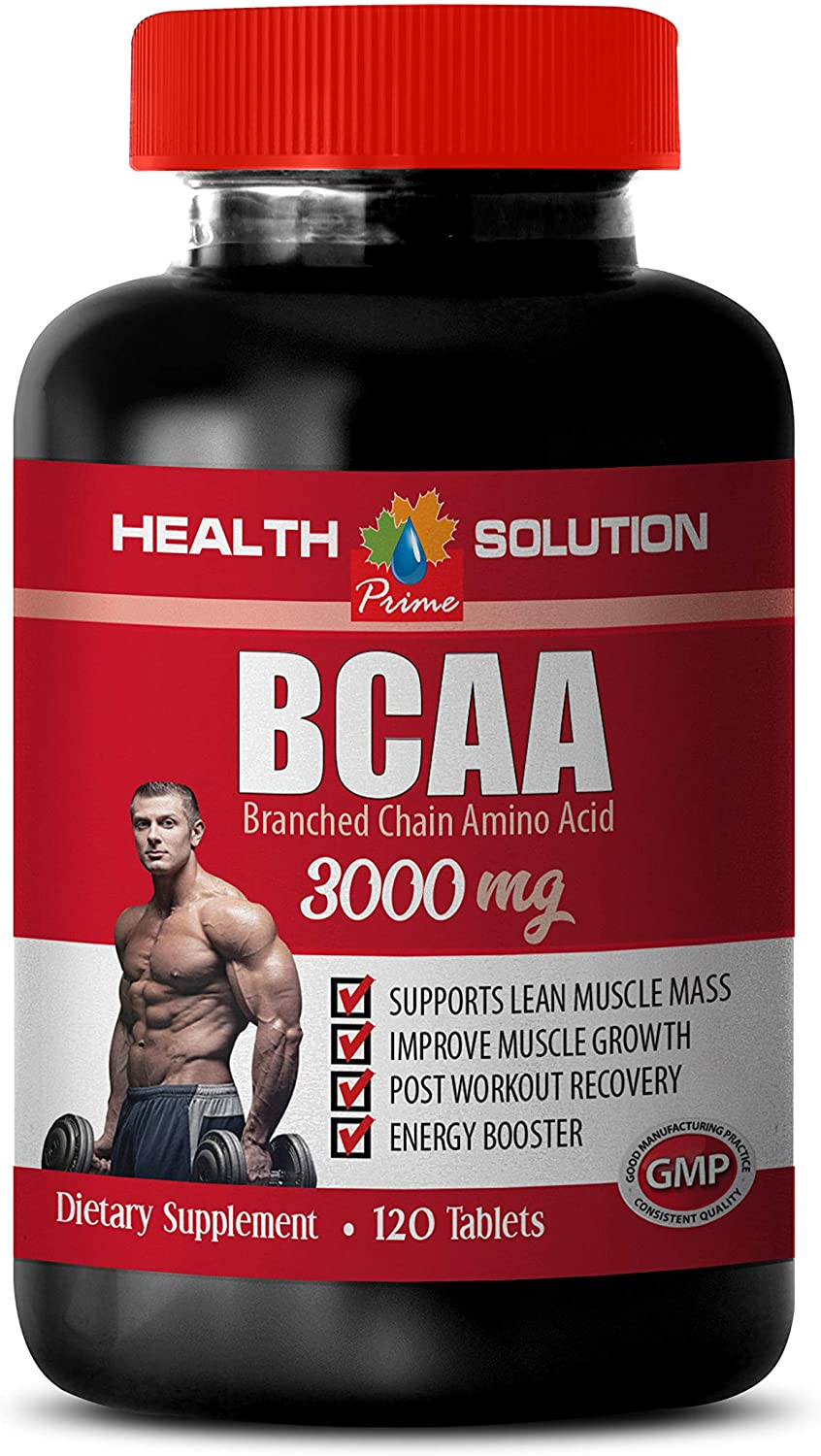 Muscle Growth Dietary Supplement Capsules - BCAA 3000 MG - bcaa Weight Loss Women - 1 Bottle 120 Tablets