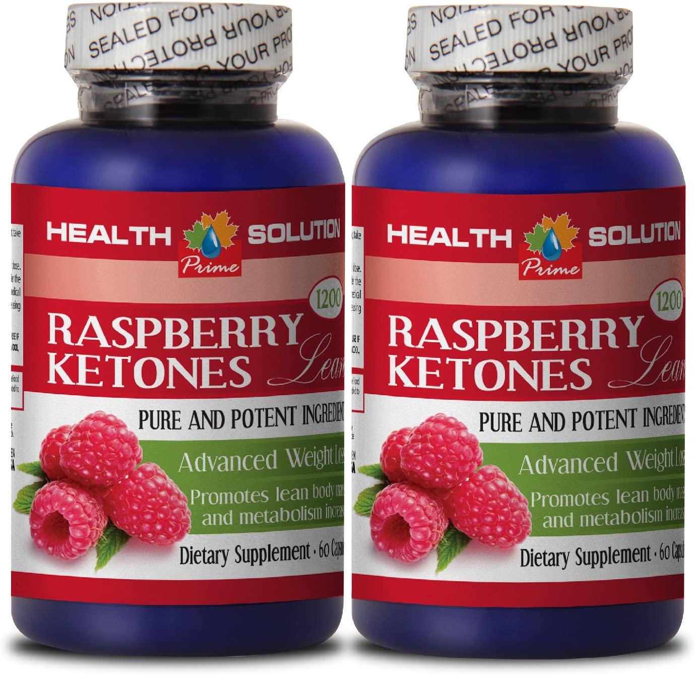 Fat Burner Pills for Belly Fat - Raspberry Ketones Lean (Advanced Formula) 1200mg - African Mango and Raspberry - 2 Bottles 120 Capsules
